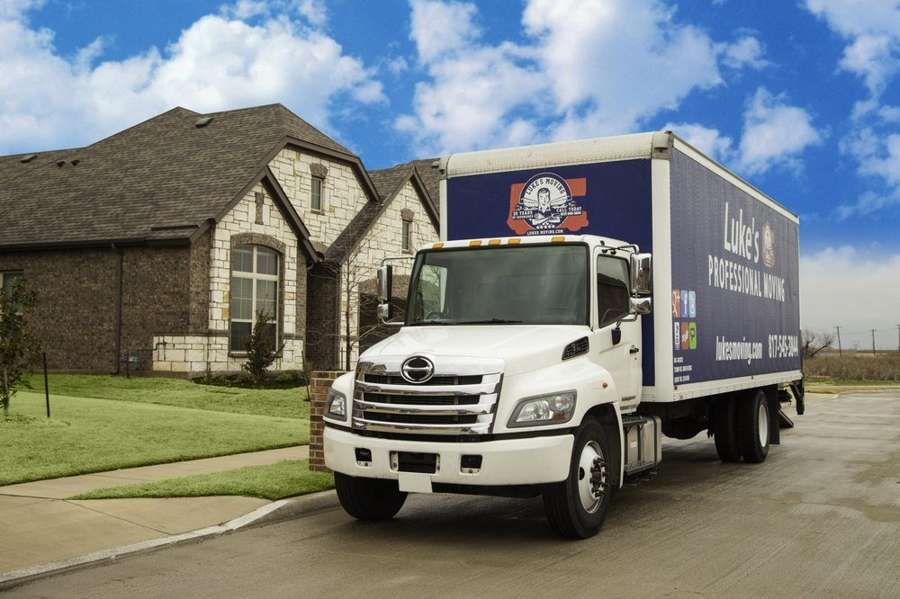 moving company van in fort worth texas